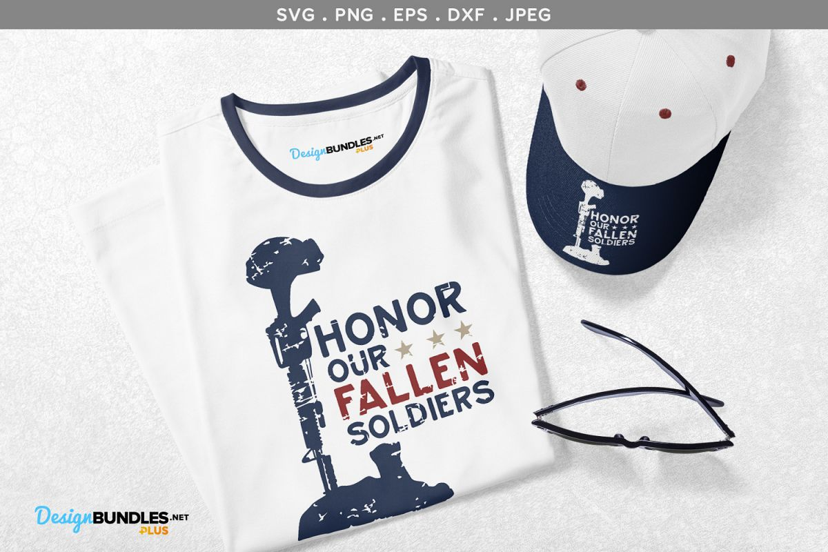 Honor our Fallen Soldiers - svg, printable example image 1
