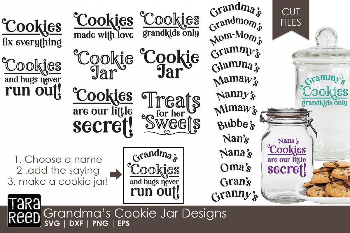 Grandma's Cookie Jar - Family SVG Files for Crafters example image 1