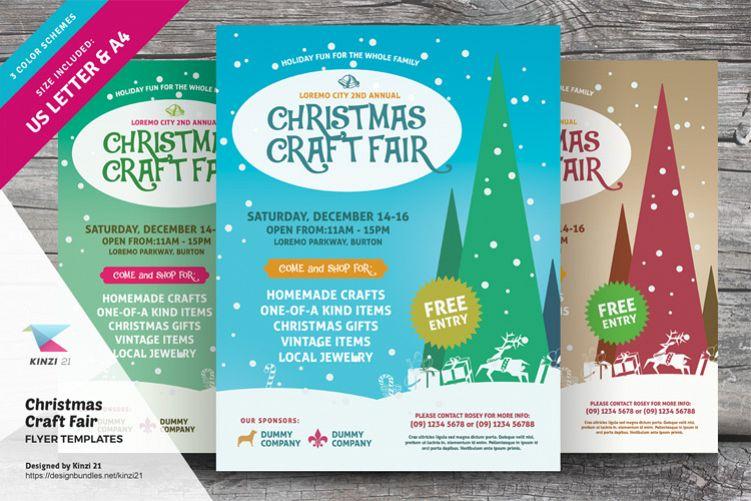 Christmas Craft Fair Flyer Templates example image 1
