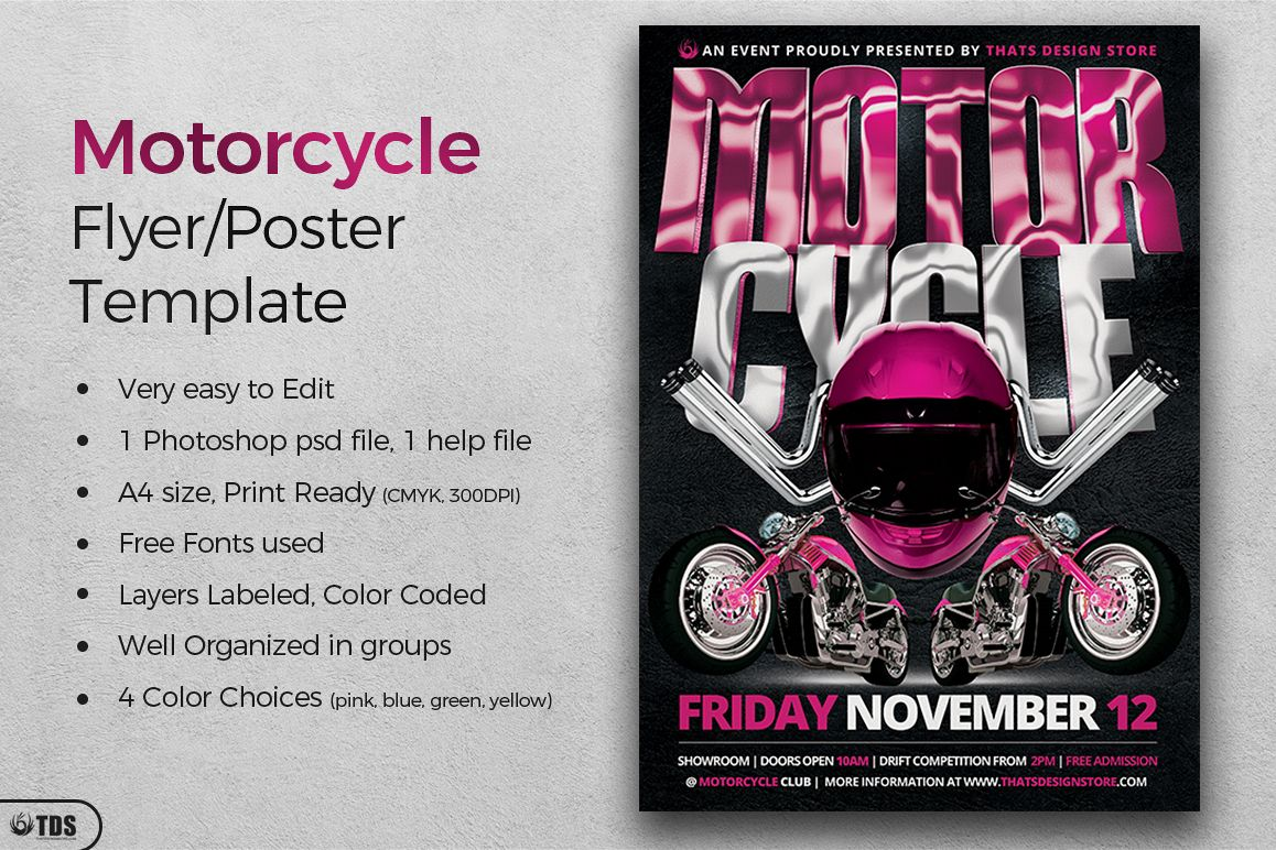 Motorcycle Flyer Template example image 1