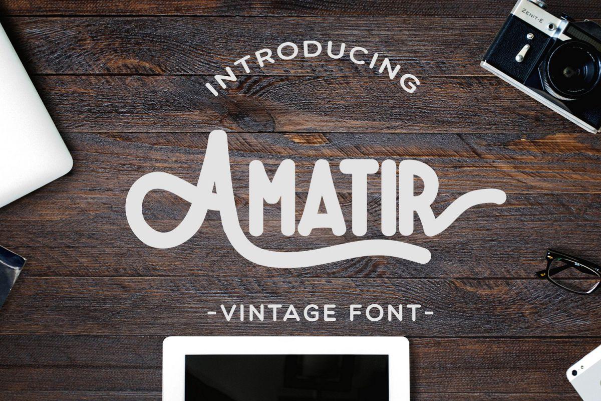 Amatir Font Extra Vintage illustration example image 1