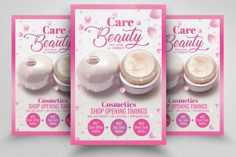 Beauty Skin Care Product Flyer Template example image 1