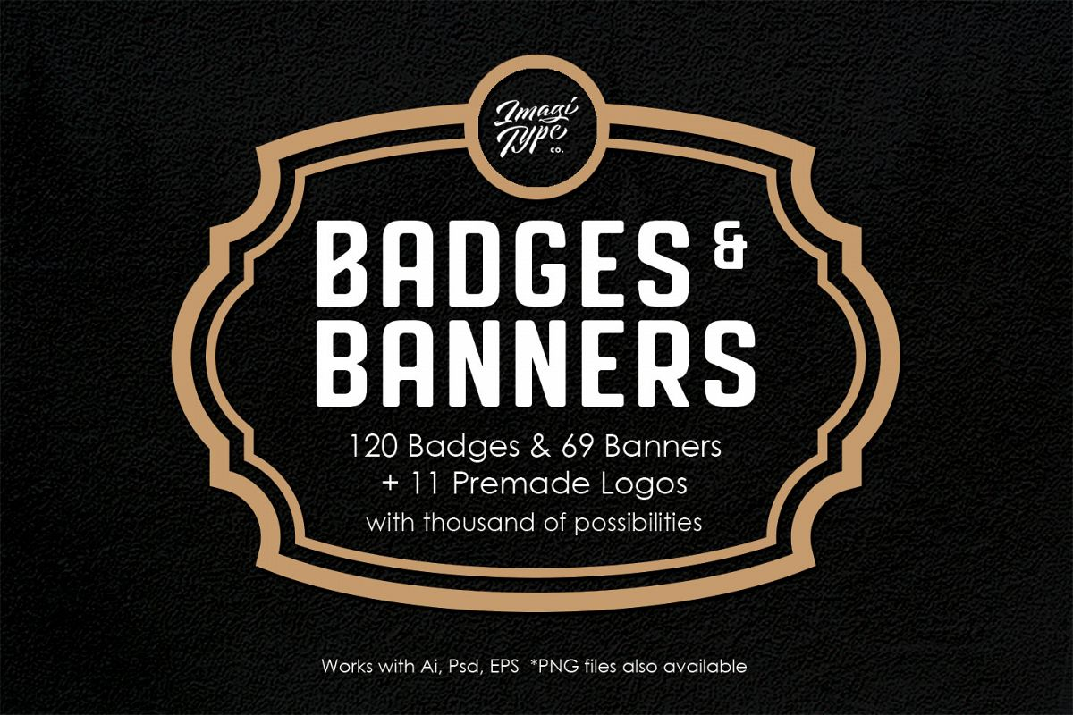 Badges And Banners Kit example image 1