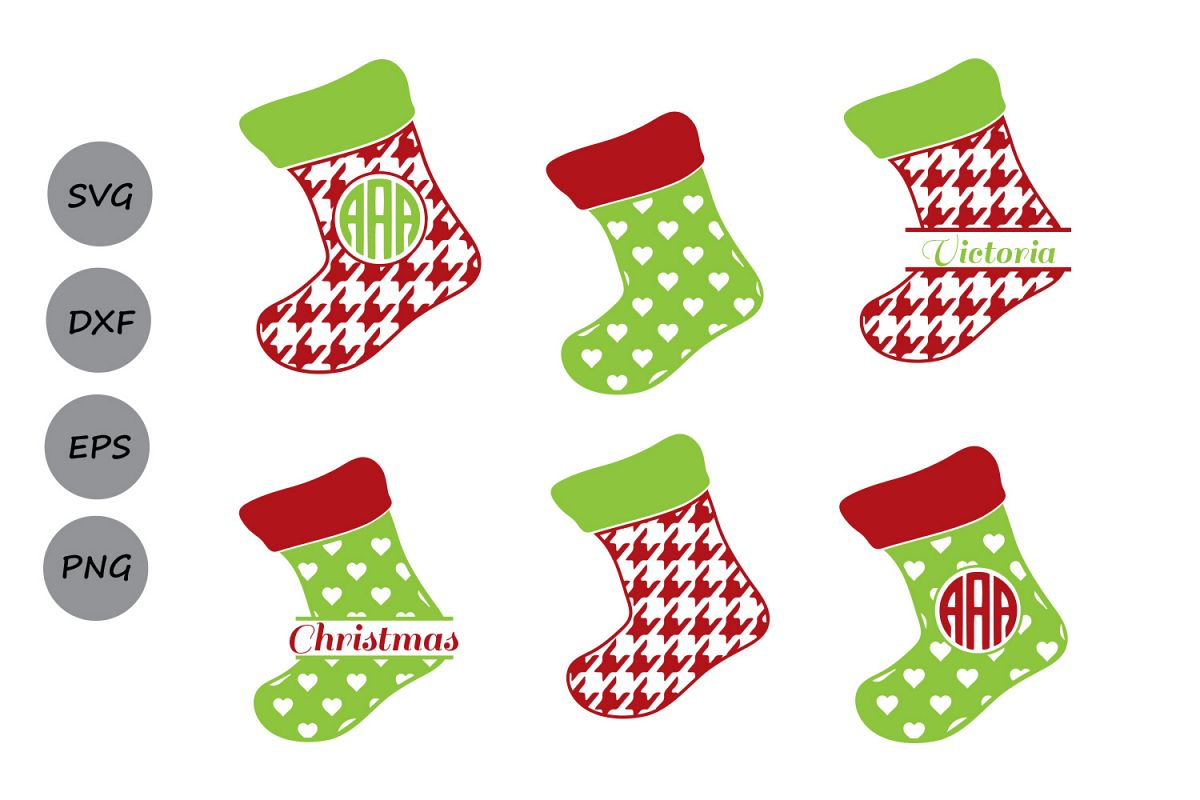 Christmas Stockings Png.Christmas Stockings Svg Stockings Monogram Svg Christmas Svg Stocking Svg Stockings Silhouette Cricut Files Svg Dxf Eps Png