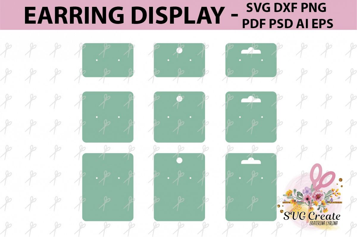 Earring Cards Svg Display Pdf Example Image 1