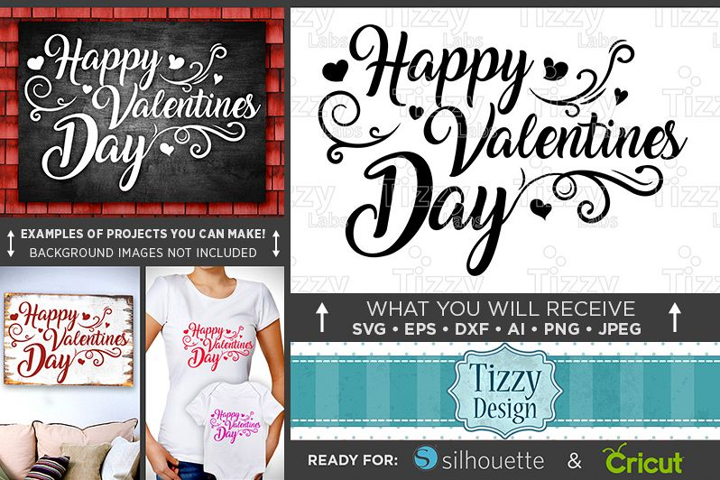 Happy Valentines Day Sign SVG - Valentines Day SVG - 1509 example image 1
