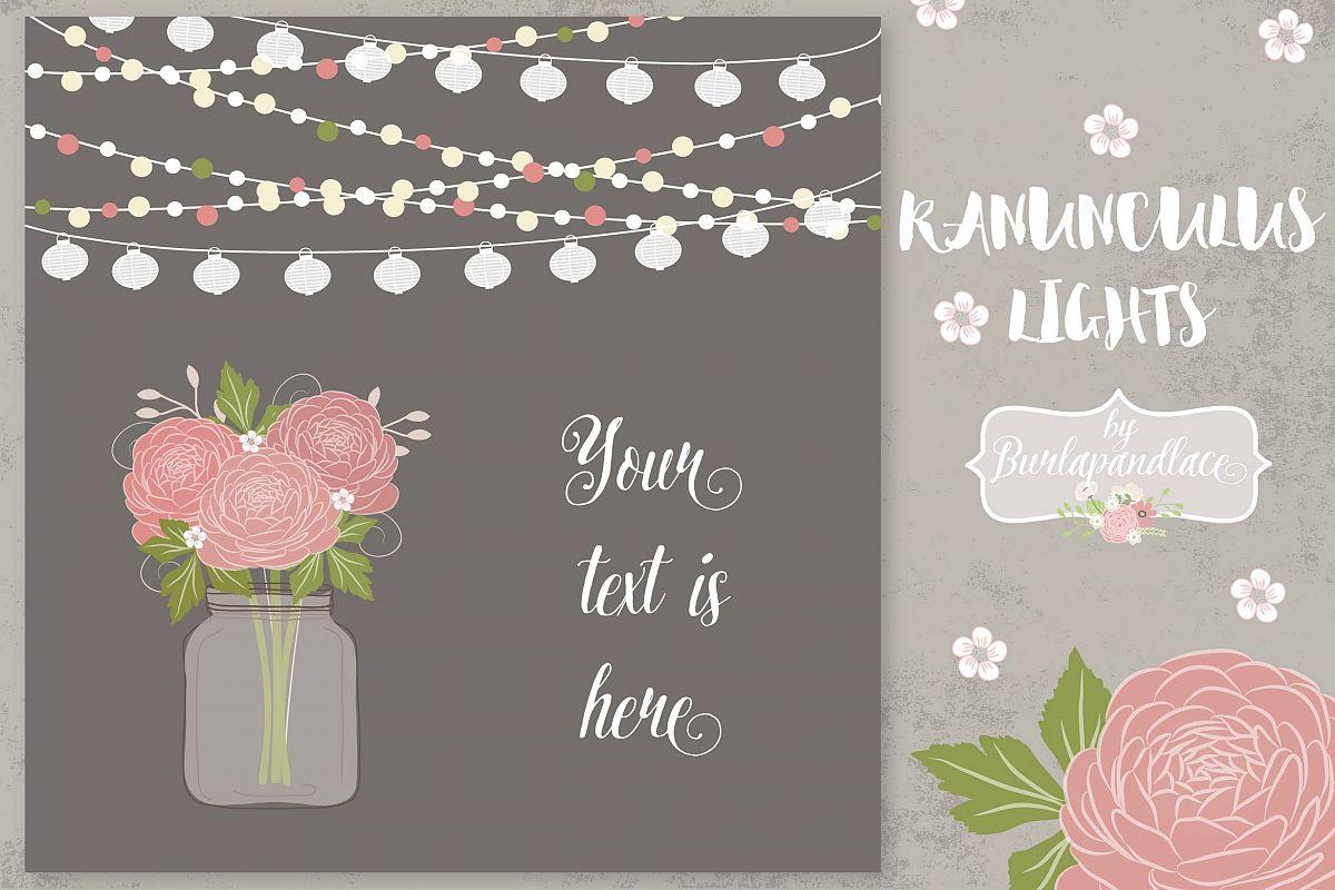 Ranunculus flower invitation example image 1