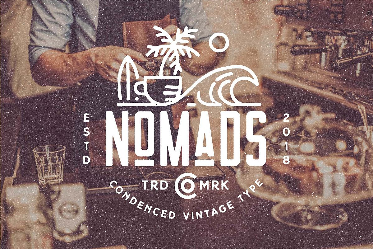 Nomads -The Farmer Original Typeface example image 1