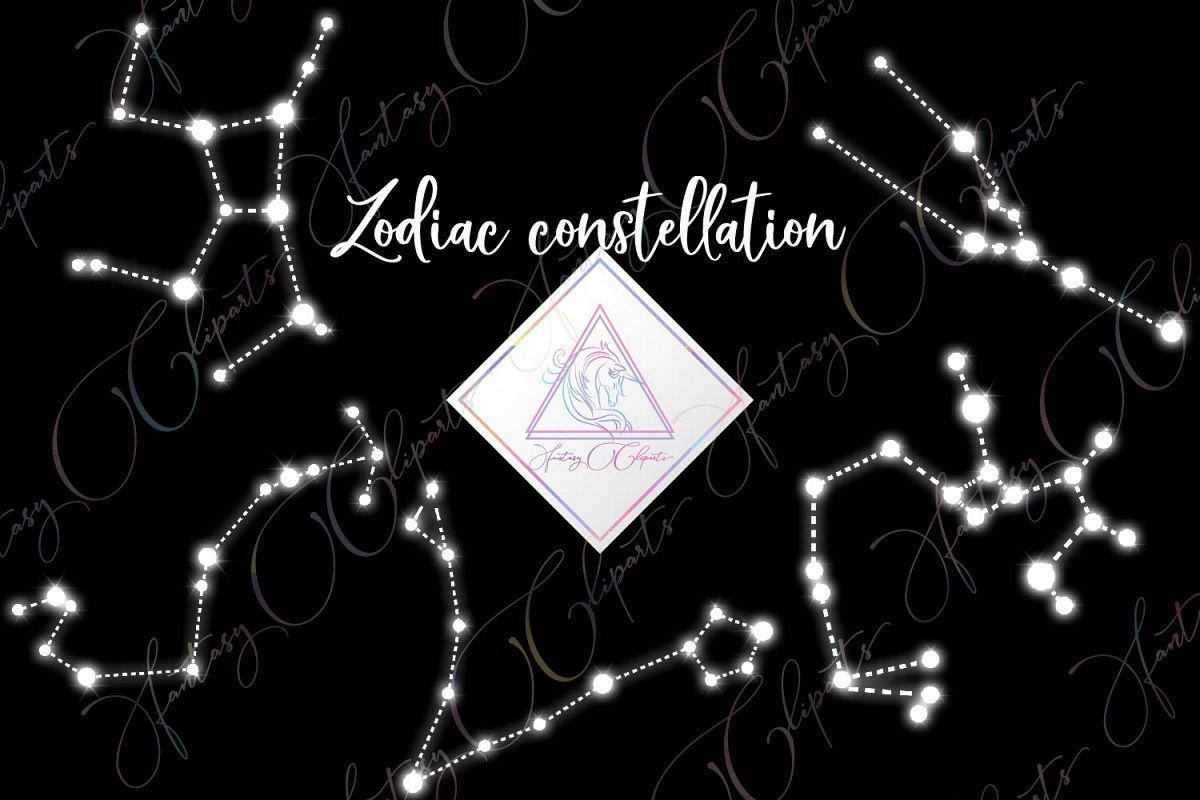Zodiac Constellation Clipart example image 1