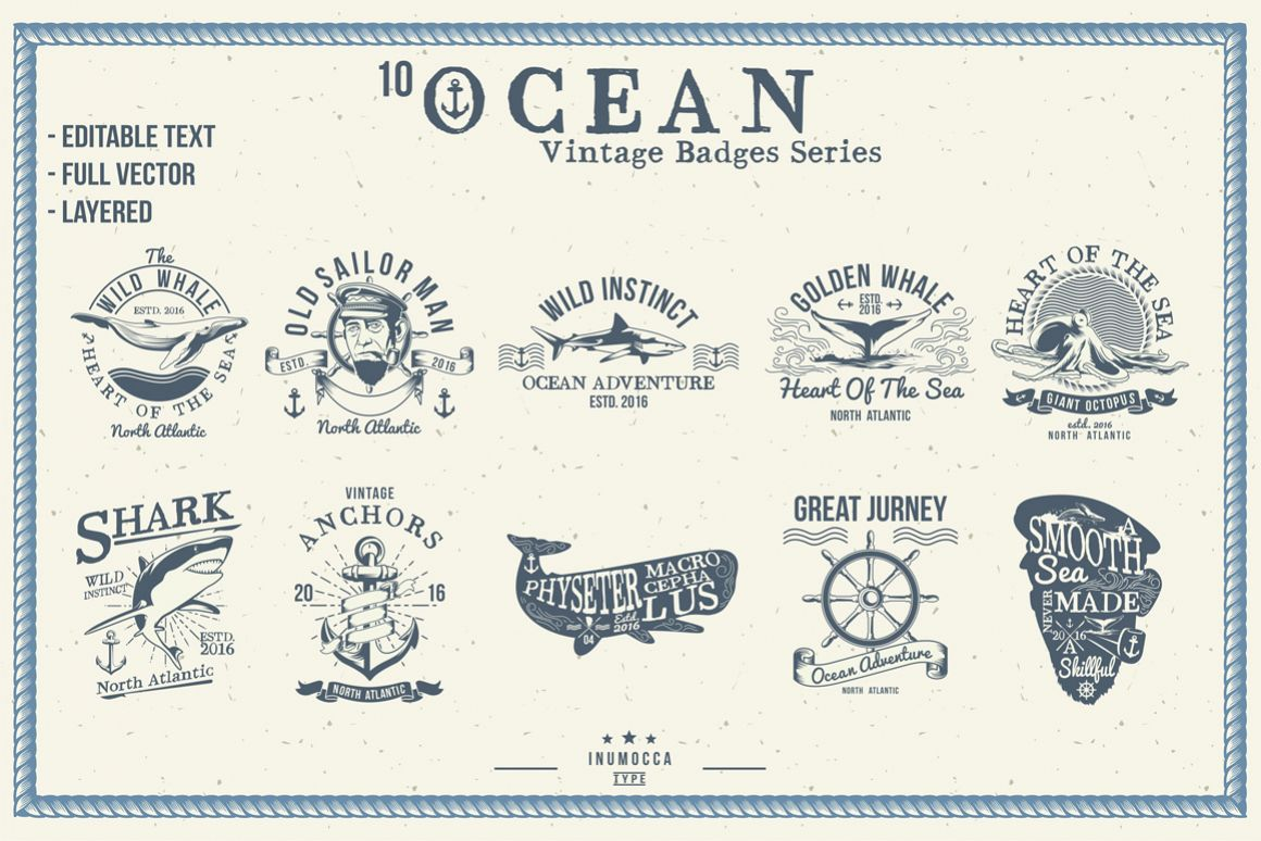 10 Ocean Vintage (editable text) example image 1