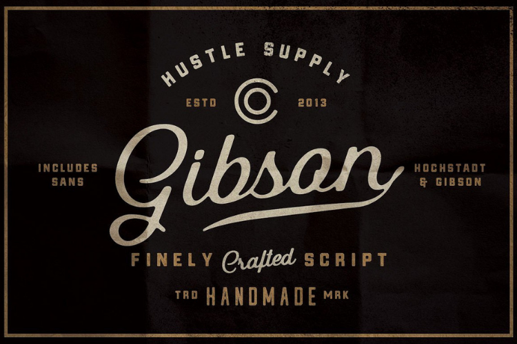Gibson Script Extras - font example image 1