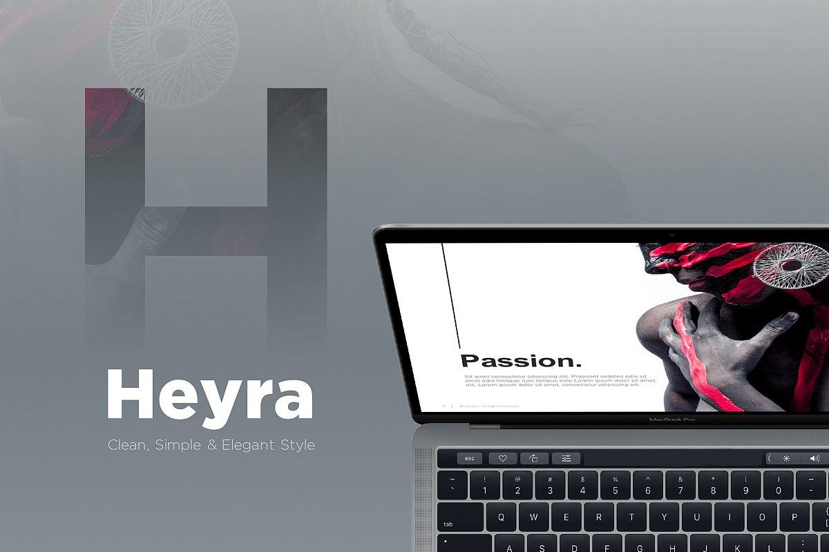 Heyra powerpoint template by vizualus design bundles heyra powerpoint template example image toneelgroepblik Gallery
