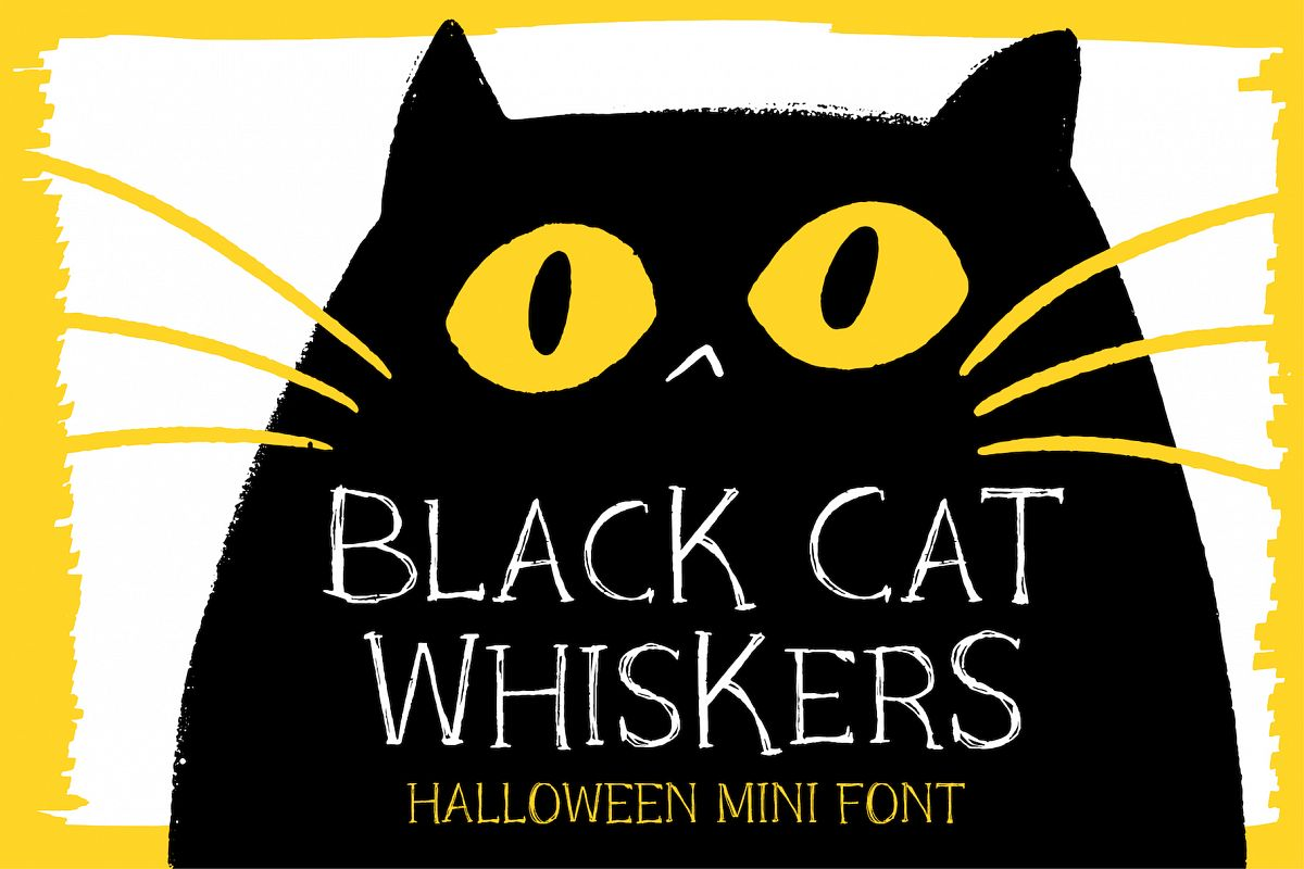 Black Cat Whiskers - Mini Serif Font example image 1