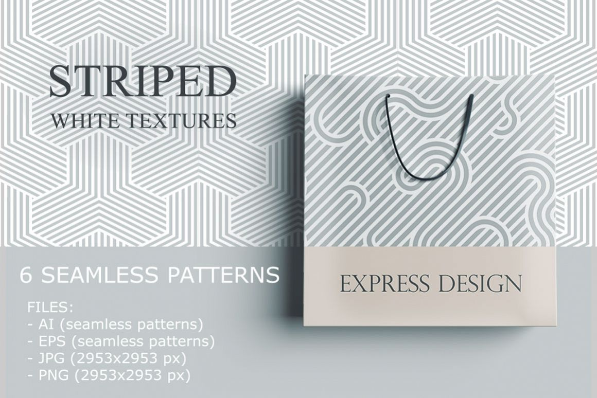 Striped Seamless Geometric Patterns Example Image