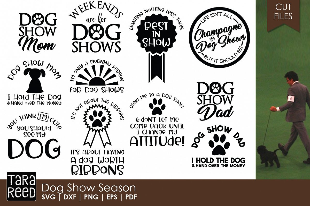 Dog Show Season - Dog SVG and Cut Files for Crafters example image 1