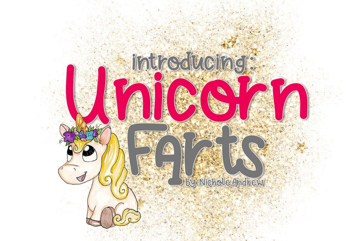 Unicorn Farts Handwritten Font example image 1