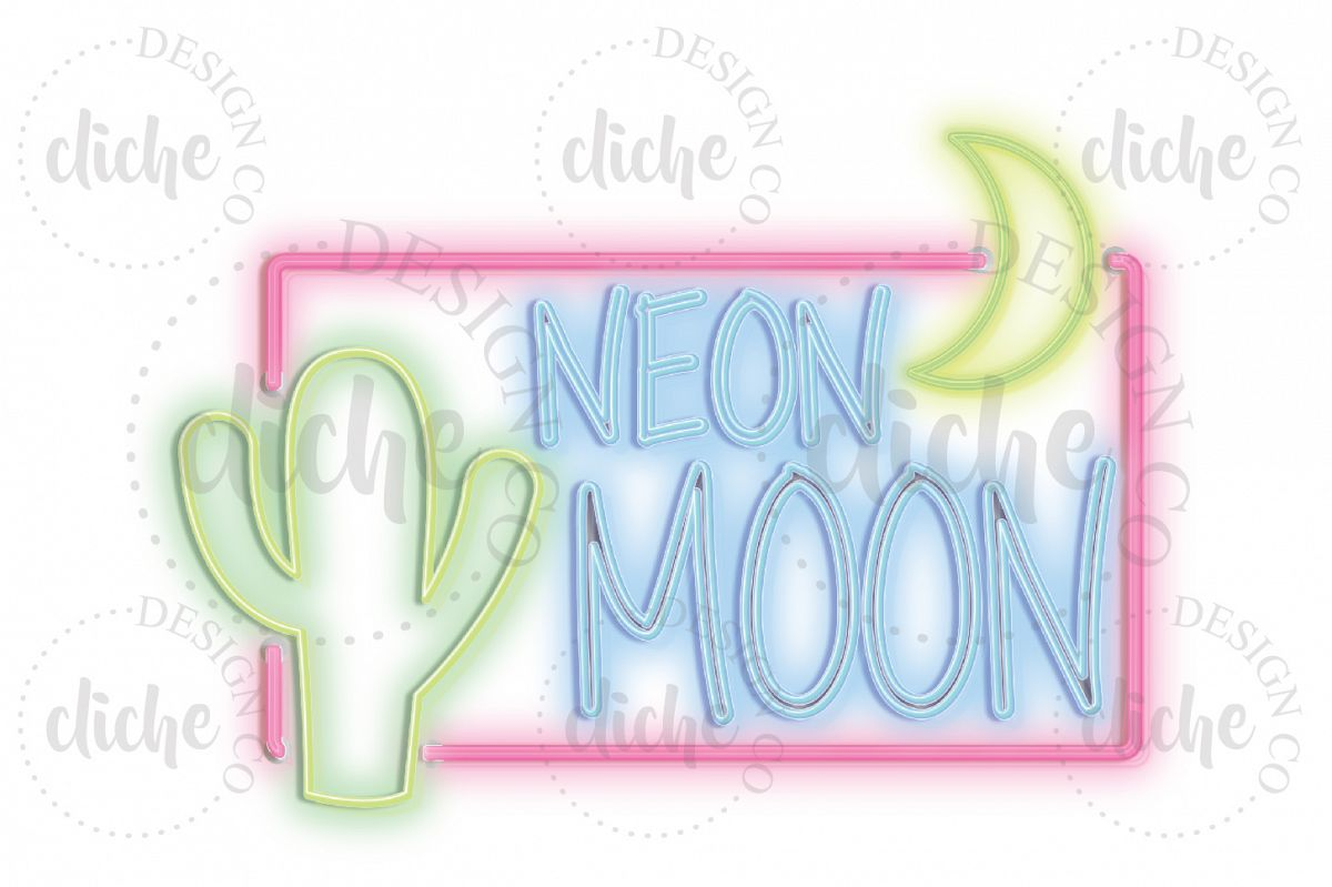 Neon Sign Sublimation Design example image 1