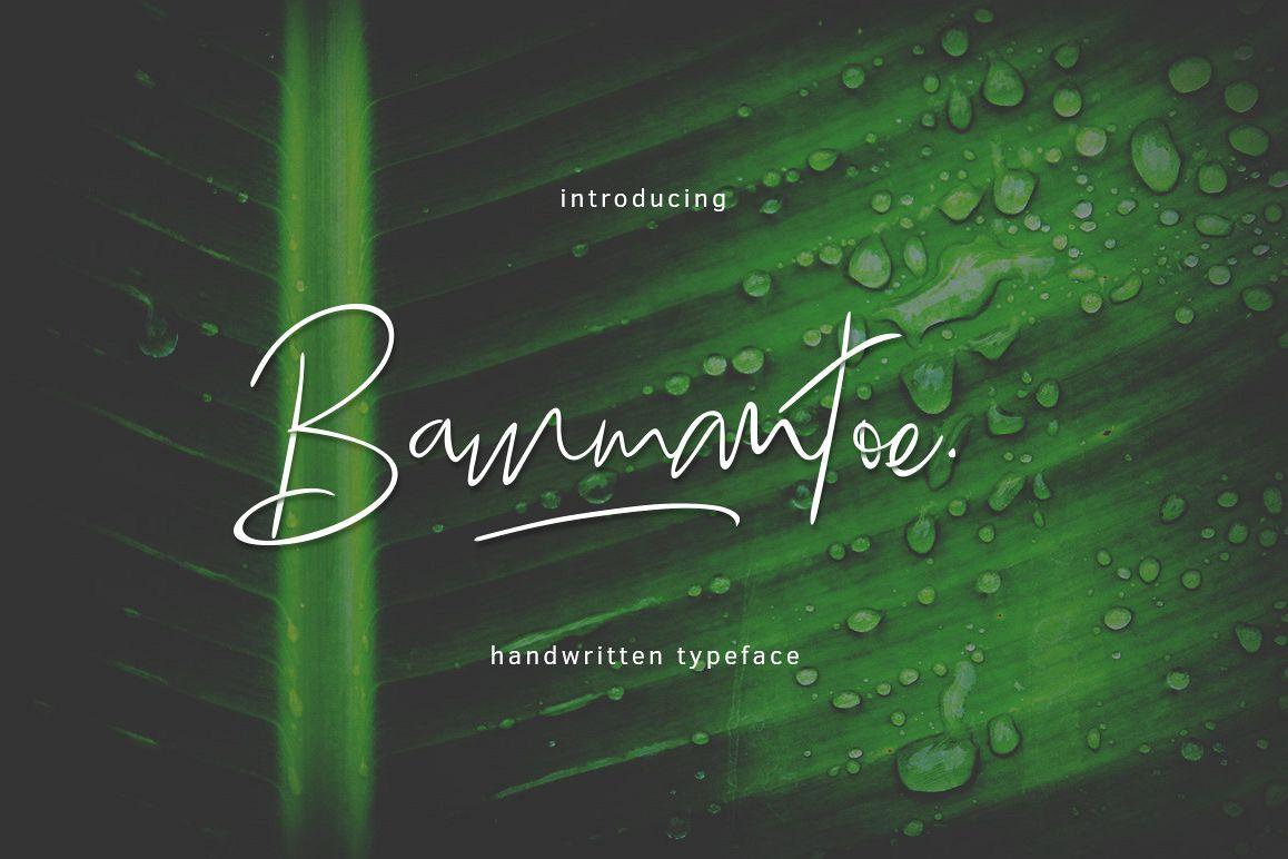 Bammantoe Typeface example image 1