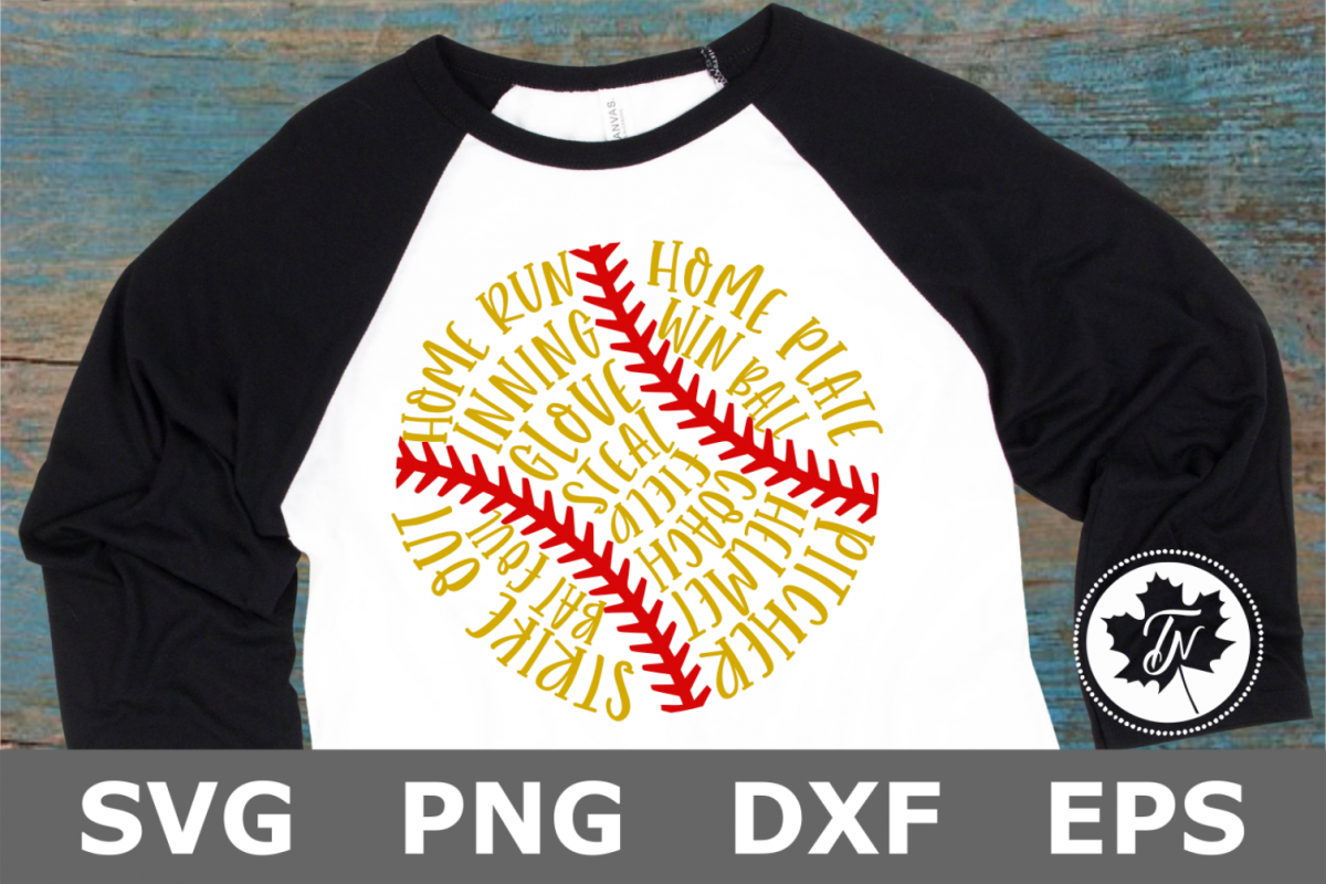 Softball Words - A Sports SVG Cut File example image 1