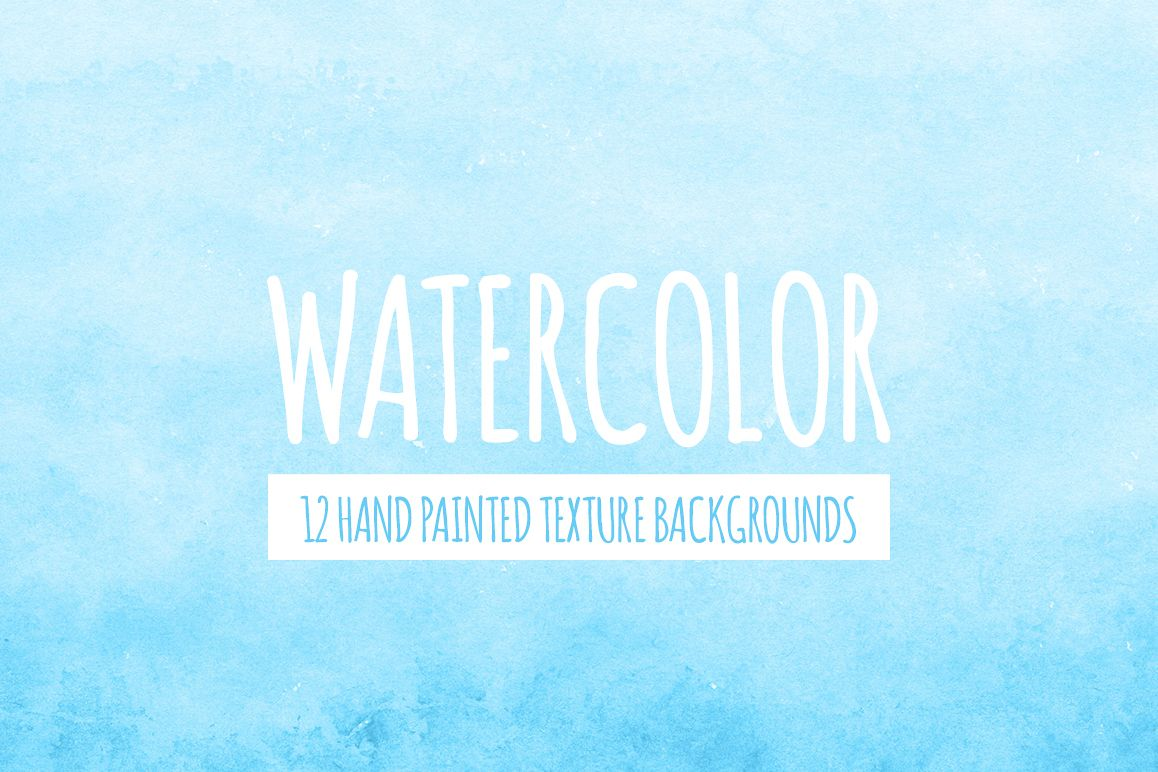 Bright Blue Watercolor Texture Backgrounds example image 1
