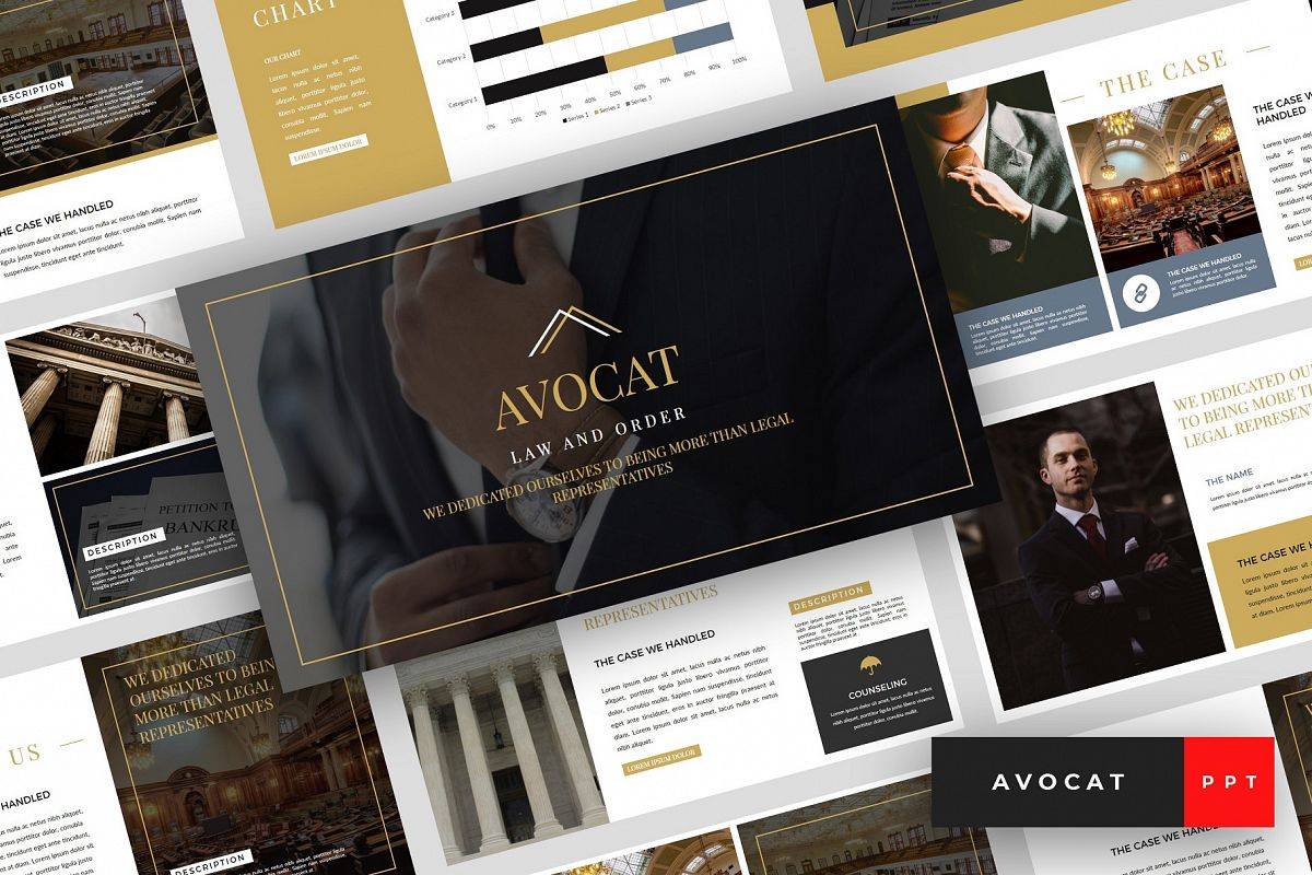 Avocat - Lawyer PowerPoint Template example image 1