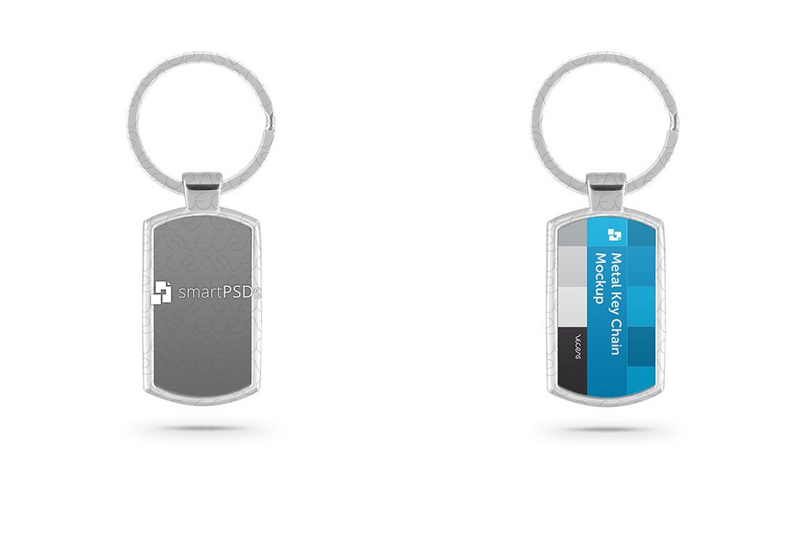 Metal Key Chain Mockup for Sublimation Design Preview example image 1