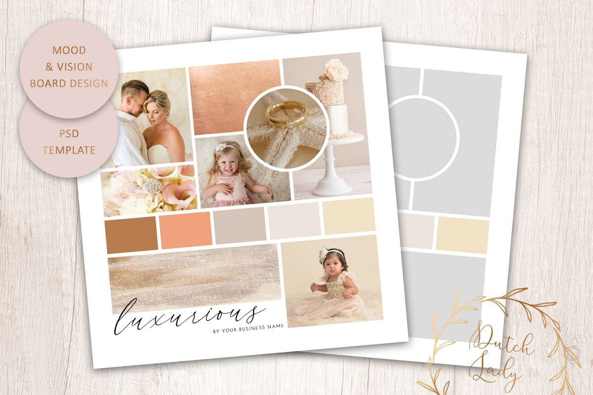 PSD Mood & Vision Board - Adobe Photoshop Template - #7 example image 1