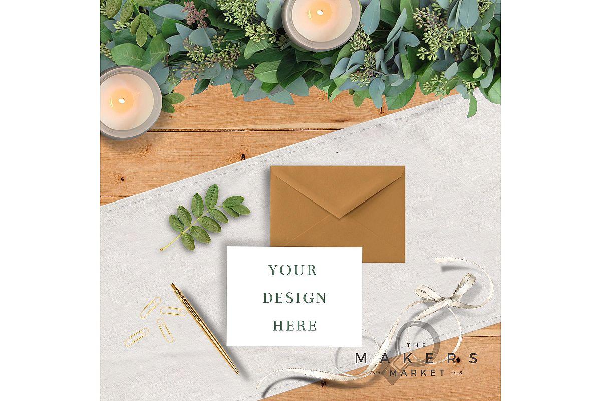 Wedding Mockup/ Wedding Invite Mockup/ RVSP Mockup example image 1