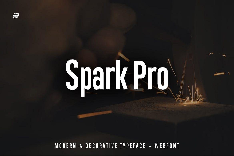 Spark Pro - Decorative Typeface WebFont example image 1