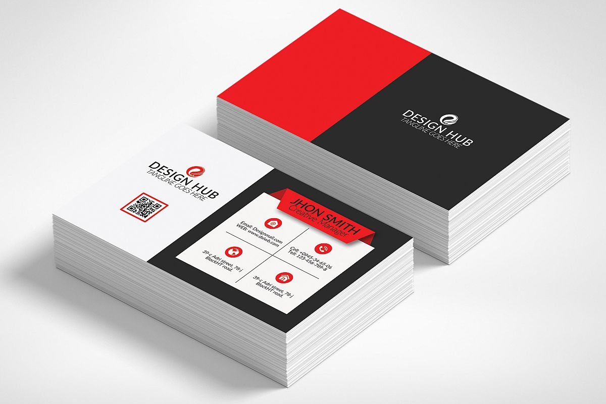 Stylish Business Card Template example image 1