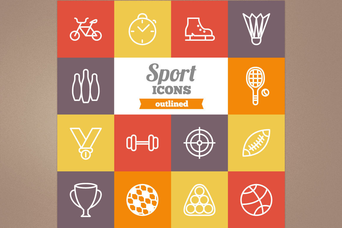 Outlined Sport Icons example image 1
