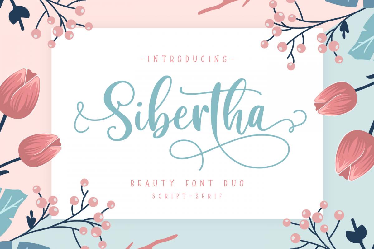 Sibertha - Font Duo - example image 1