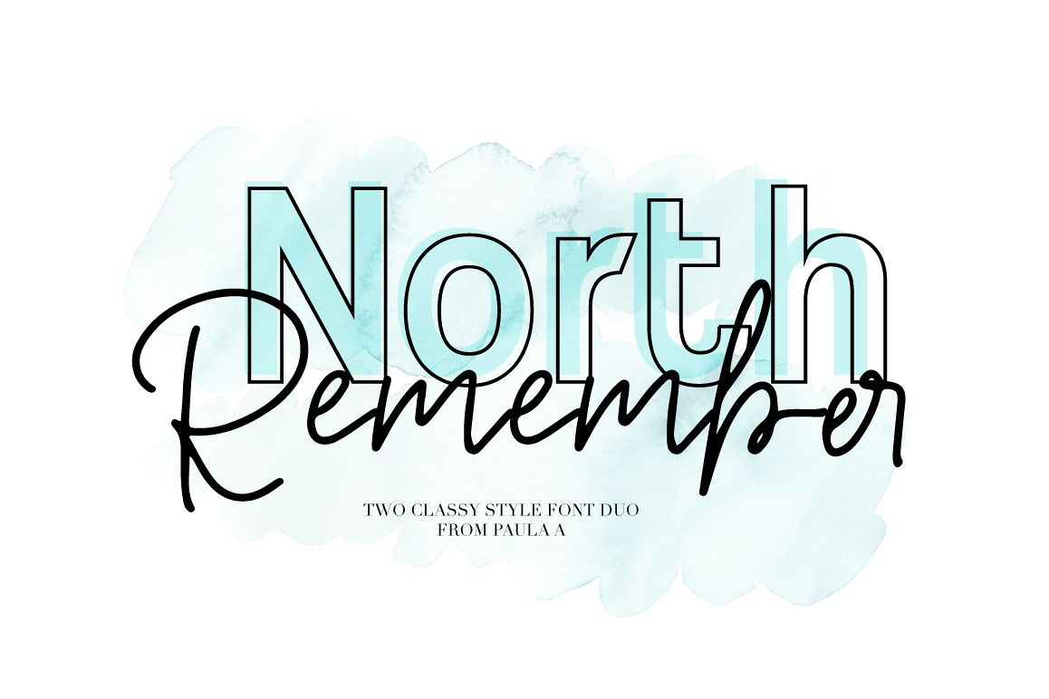 North Remember font Duo example image 1