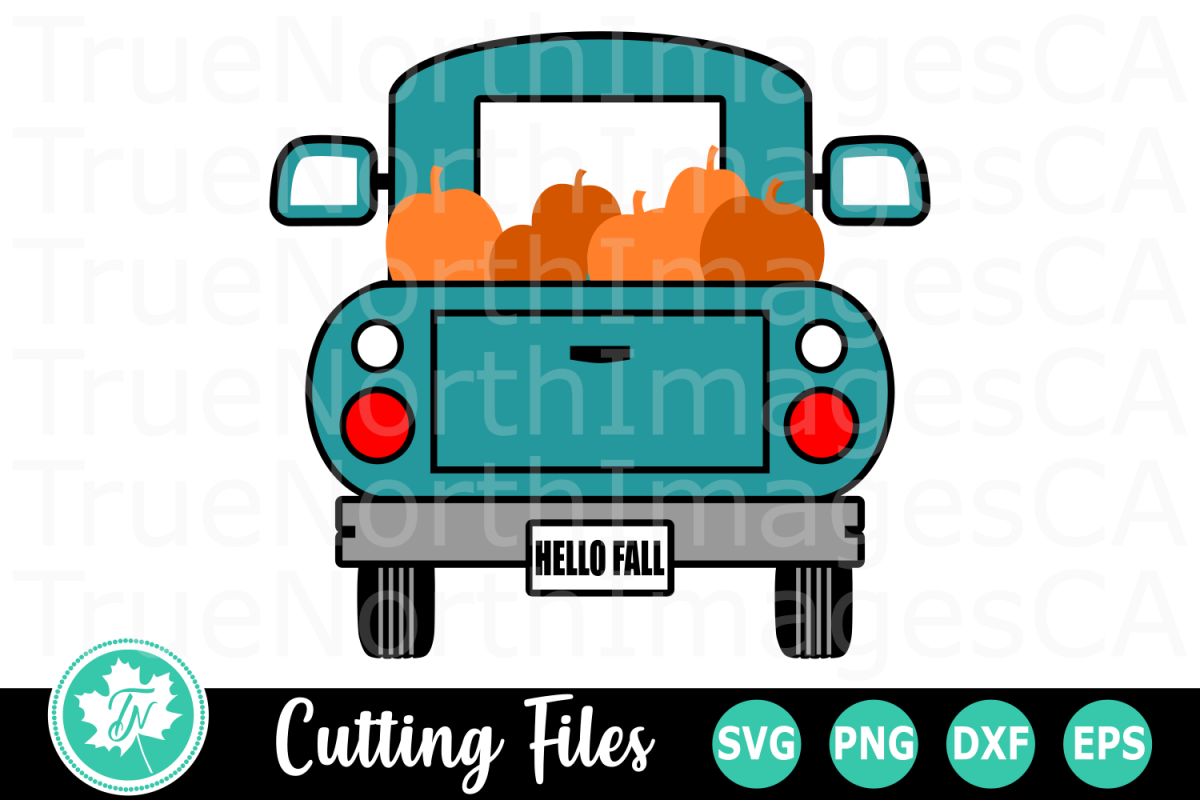 Pumpkin Truck - A Fall SVG Cut File example image 1