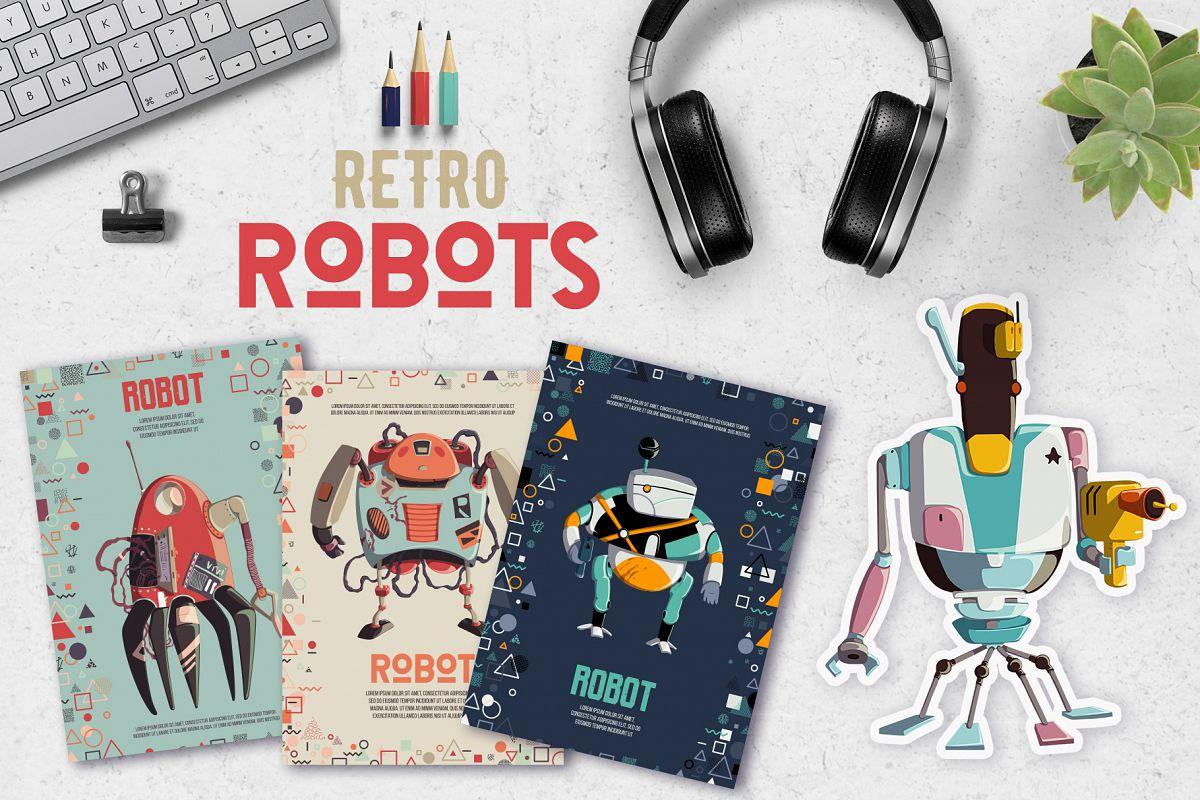 Retro robots example image 1