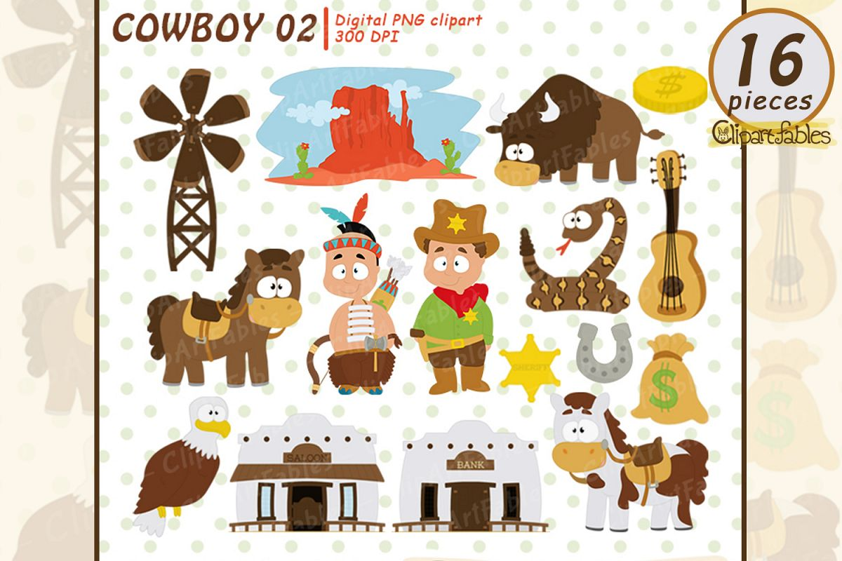 WESTERN clip art, Cowboy clipart, Sheriff clipart, example image 1