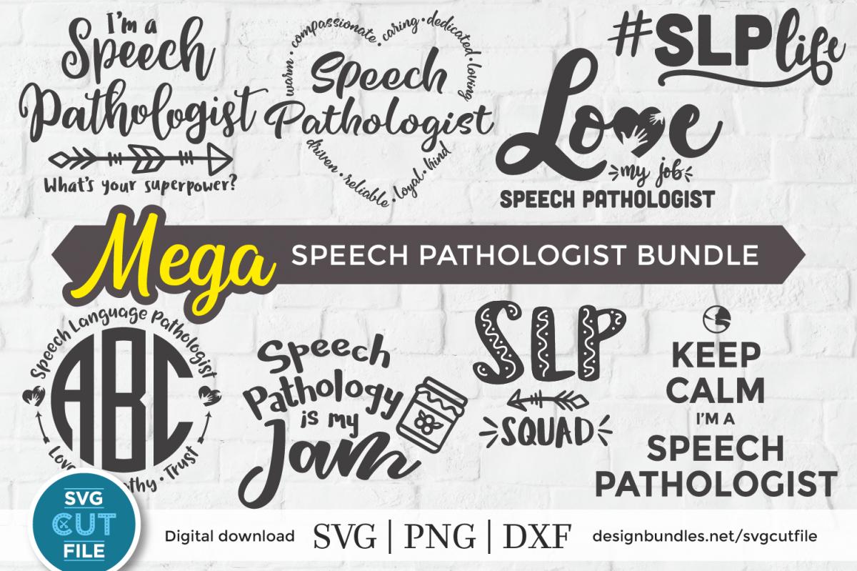 Speech Language Pathologist SLP svg bundle, SLP svg bundle example image 1