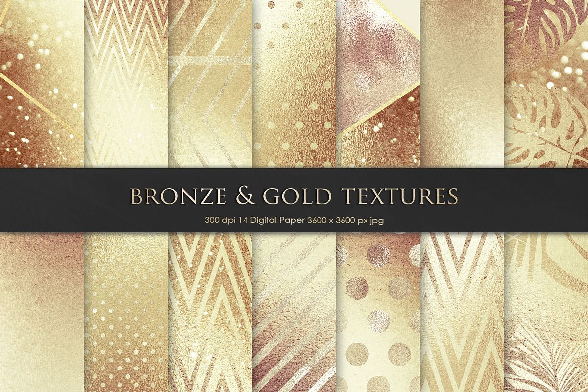 Gold and Bronze Texture, Backgrounds example image 1