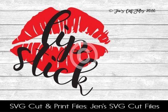 Lipstick SVG Cut File SVG Cut File example image 1
