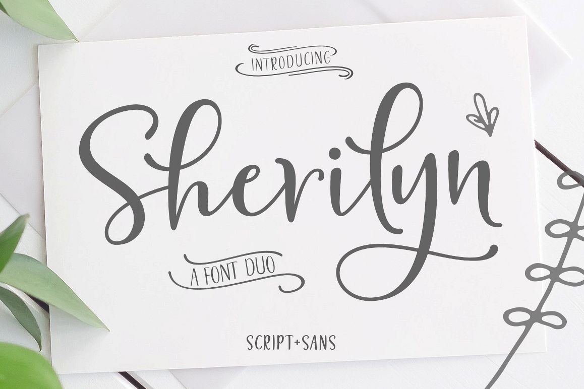 Sherilyn Script FONT DUO example image 1