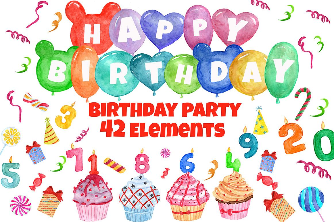 Birthday Party clipart example image 1