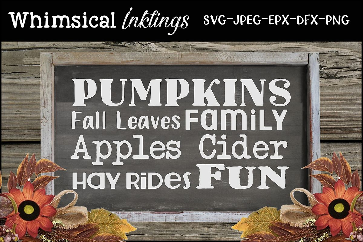 Fall Collage SVG example image 1