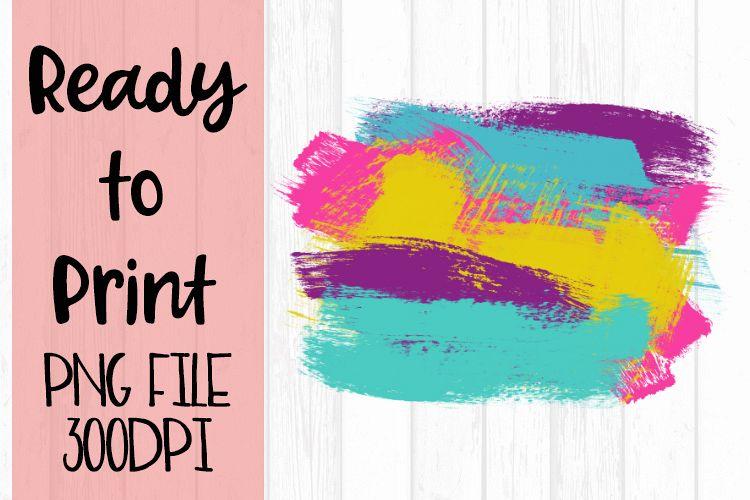 Painted Background Splash Bright Preppy Design example image 1