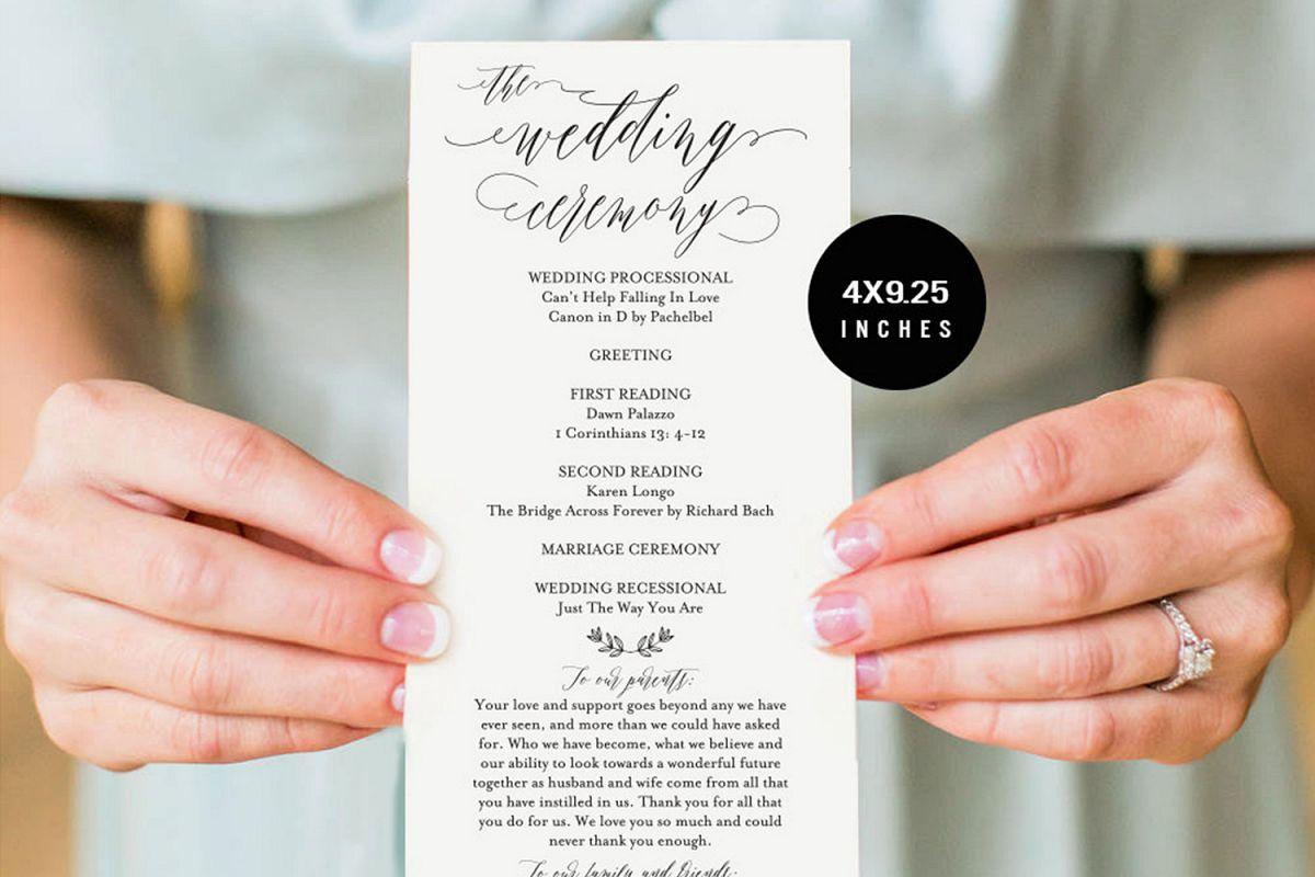 Wedding Program example image 1