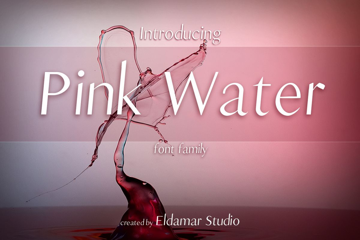 Pink Water Font example image