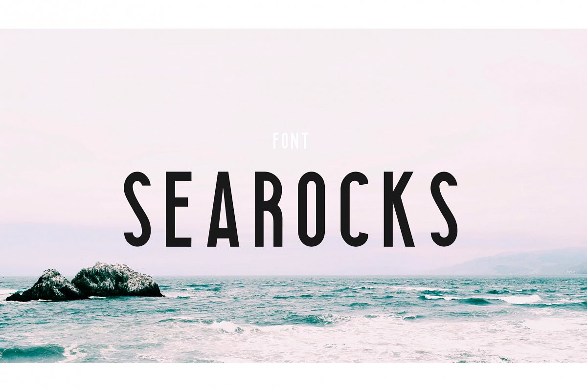 Searocks | A clean condensed font example image 1