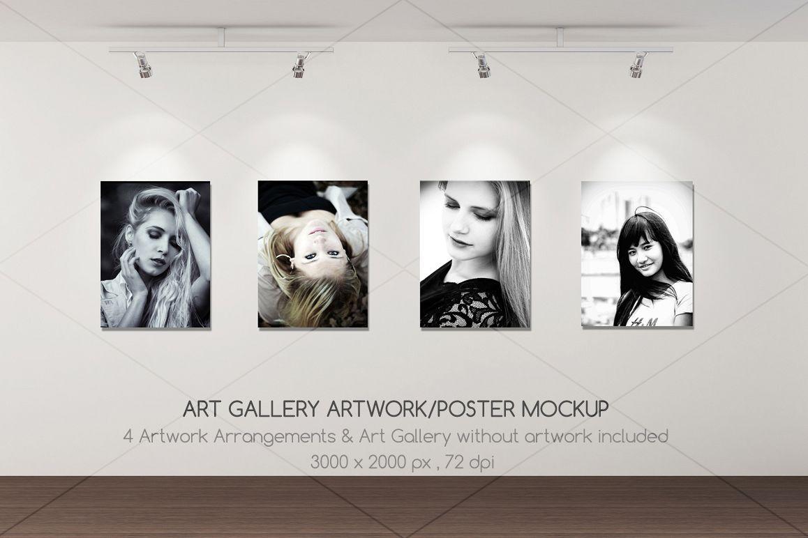 Art Gallery Artwork/Poster mockup example image 1