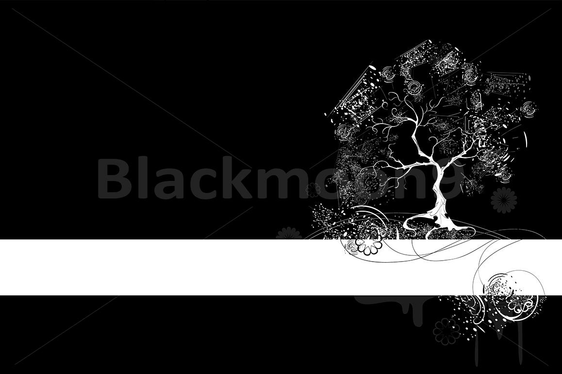 White Tree on Black Background example image 1