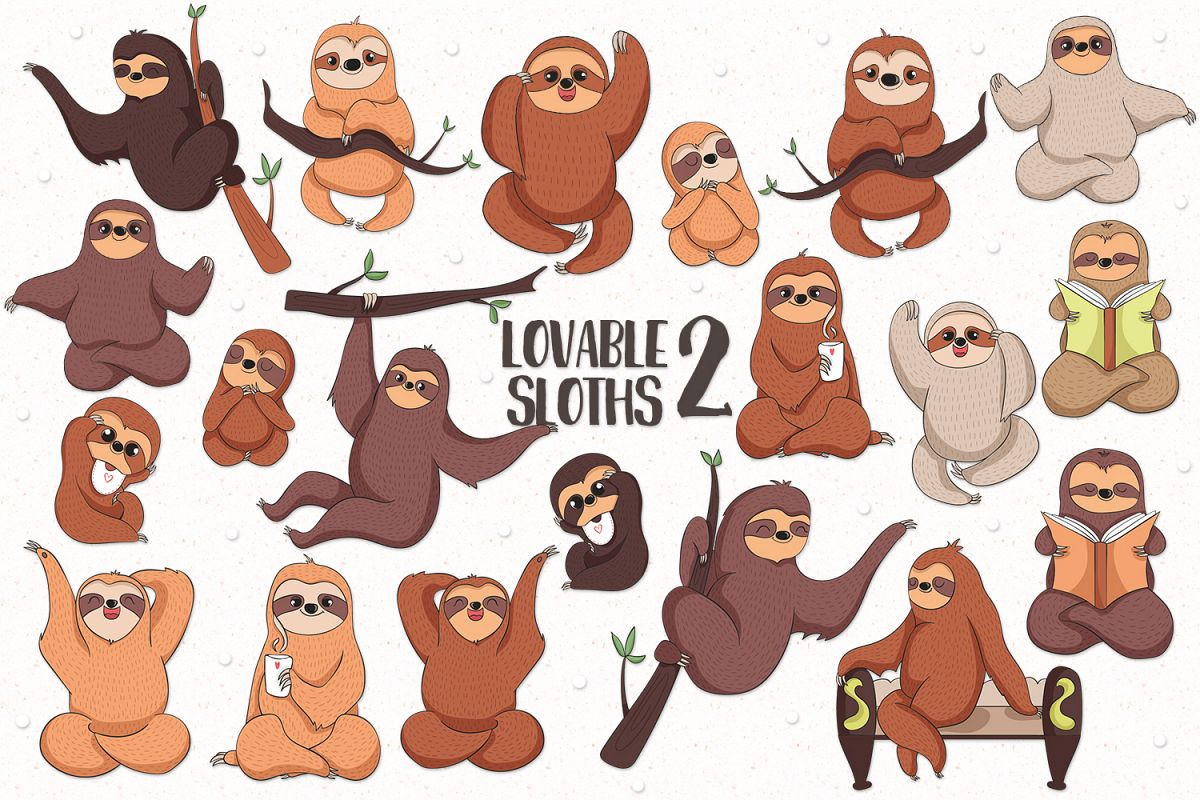 Lovable Sloths 2 example image 1