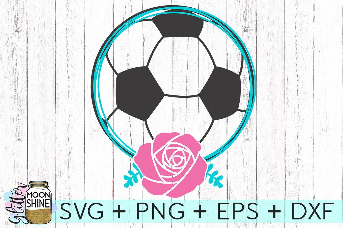 Soccer Name Frame SVG DXF PNG EPS Cutting Files example image 1